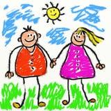Parents de Childs illustration de vecteur