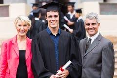 Parents de diplômé d'université Image stock