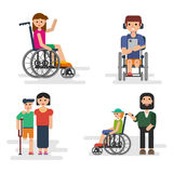 Parents with disabled children Royalty Free Stock Photography