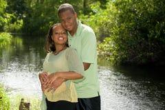 Parents en expectative Photographie stock libre de droits