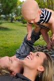 Parents et enfant Photographie stock