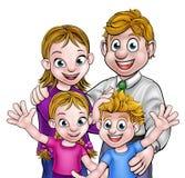 Parents et enfants de bande dessinée Photo libre de droits