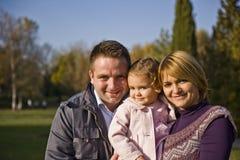 Parents et gosse heureux photo libre de droits
