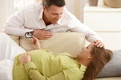 Parents expecting baby Stock Photography