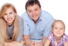 Parents with girl  studio shot Stock Photography