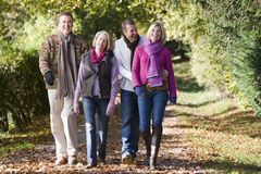 Parents and grown up children on walk Royalty Free Stock Photos