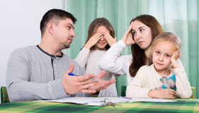 Parents having quarrel Stock Image