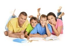 Parents help children Royalty Free Stock Image
