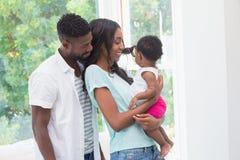 Parents heureux avec le bébé Images stock