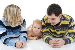 Parents heureux avec le fils photographie stock libre de droits