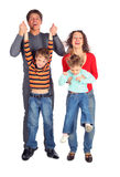 Parents hold children for hands Stock Photo