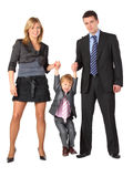 Parents hold son for hands, full body Stock Photography