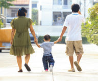 Parents holding hand of his son Royalty Free Stock Images