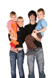 Parents holds children Royalty Free Stock Photo