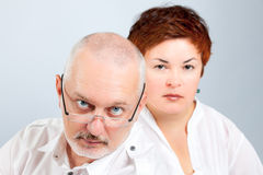 Parents inquiétés Image libre de droits
