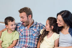 Parents interacting with their children Royalty Free Stock Photo