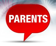Parents Red Bubble Background stock images