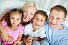 Parents and kids Stock Photo