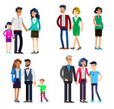 Parents with kids, couple, family and children Royalty Free Stock Photos