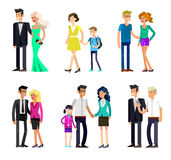 Parents with kids, couple, family and children Royalty Free Stock Photography