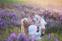Parents and kids relationship Stock Images