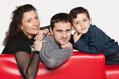 Parents and a little son Royalty Free Stock Photography