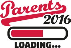 Parents 2016 loading bar. Vector Stock Photo