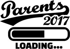 Parents 2017 - Loading bar. Vector royalty free illustration