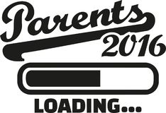 Parents 2016 loading. Bar vector Royalty Free Stock Image