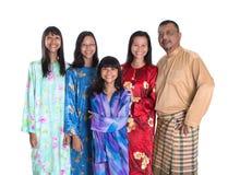Parents malais asiatiques avec des filles I Image libre de droits