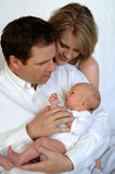 Parents with newborn baby Stock Photography