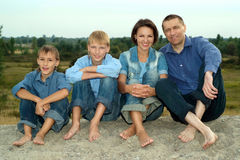 Parents and nice children Royalty Free Stock Photos