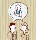 Parents parlant du bébé/du père, mère, fils illustration libre de droits