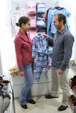 Parents with pijamas for child Stock Images