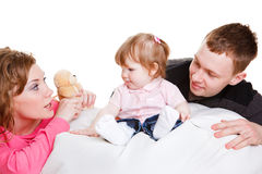 Parents playing with baby Stock Photos