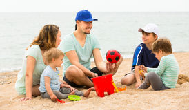 Parents playing  with her  children Royalty Free Stock Photo