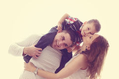 Parents playing with their child Stock Photography