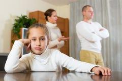 Parents quarrel at home Royalty Free Stock Photos