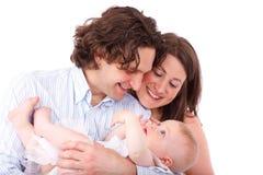 Parents retenant la chéri Image stock