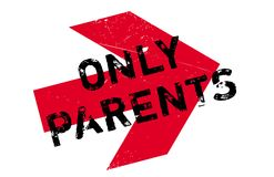 Only Parents rubber stamp Royalty Free Stock Photos