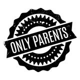 Only Parents rubber stamp Stock Photography
