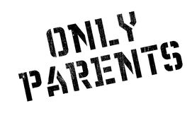 Only Parents rubber stamp Royalty Free Stock Photo