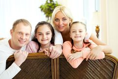 Parents and siblings Royalty Free Stock Images