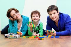Parents with a son Stock Image