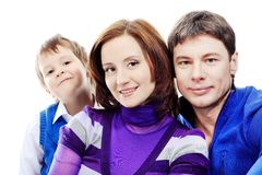 Parents and a son Stock Photo