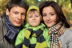 Parents and son Royalty Free Stock Photography