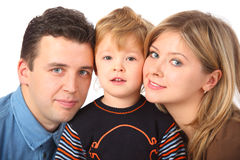 Parents and son close up Royalty Free Stock Photos