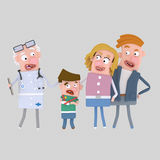 Parents and son with doctor Royalty Free Stock Photo