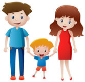 Parents and son holding hands Stock Photography
