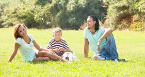 Parents with son at park Royalty Free Stock Photography